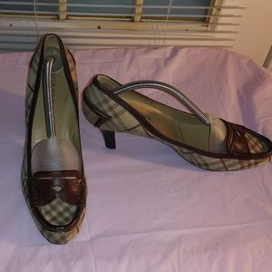 Burberry Logo Plaid Loafer Pumps 11573727